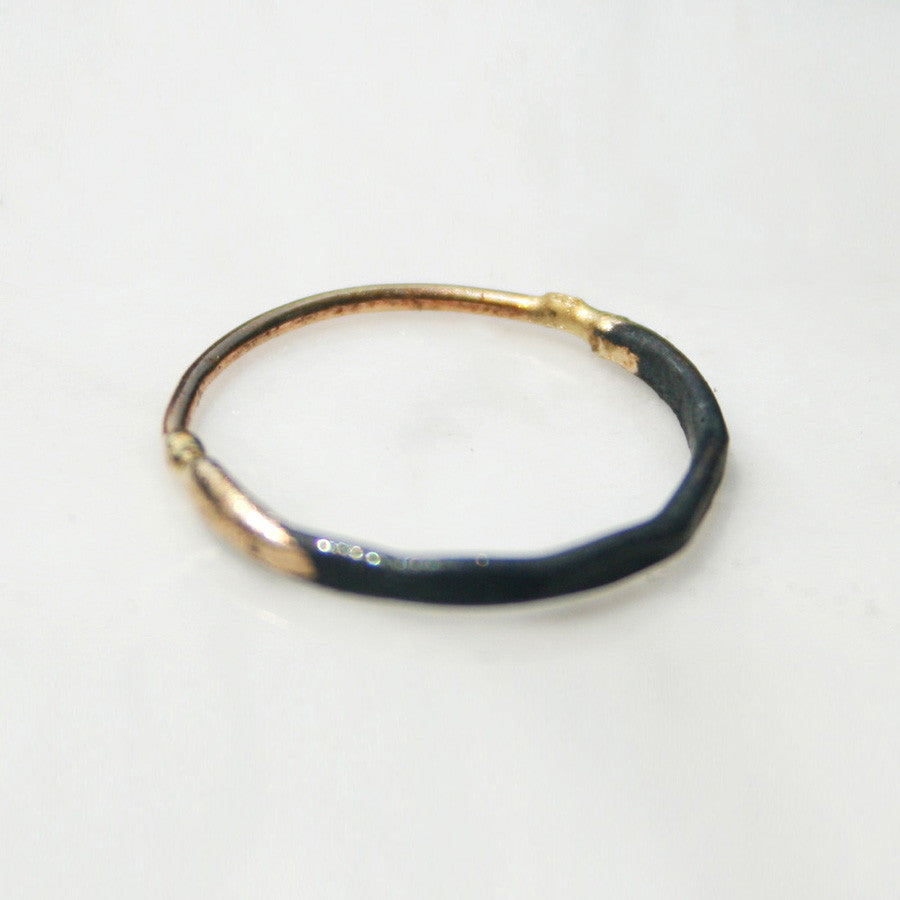 10-24K/Sterling Ombre Band