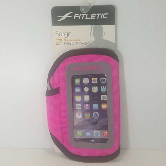 Fitletic Surge Phone Armband S/M - (ZZGVGCpink) - New w/Packaging