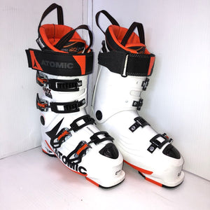 Atomic Hawx Prime 120 DH Ski Boots, White/Orange, 295mm, Pre-owned (SKU: 23XQXC)