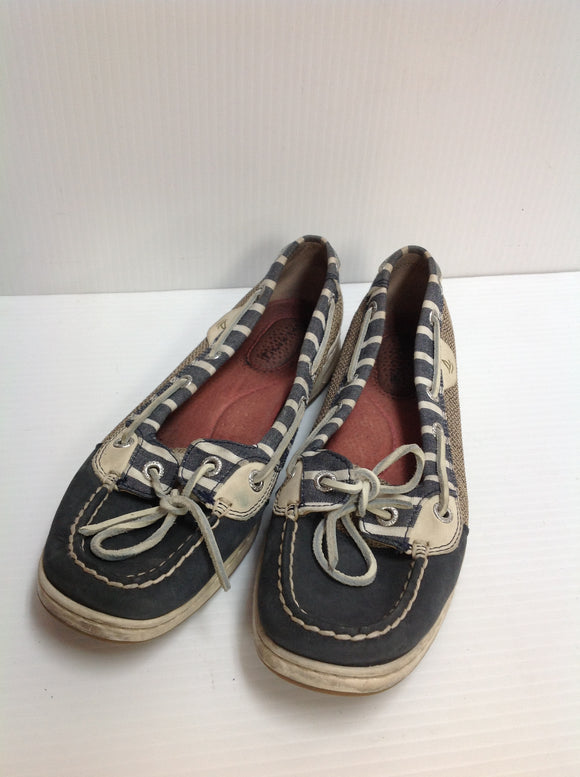 Sperry Striped Boat Shoes - used (5J83SD)