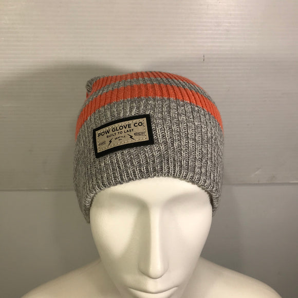 POW Glove Co. Striped Pom Toque (RDYC2T)