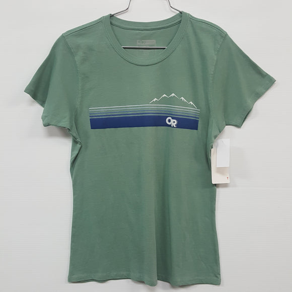 Outdoor Research Ally S/S Tee - Women's Medium (new approx $50.00) - (TGSW8E)