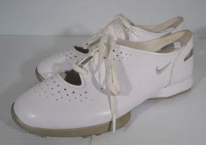 NIKE Air Summer Lace Ladies Golf Shoes, White, Womens Size 8.5 (PVZKAK)