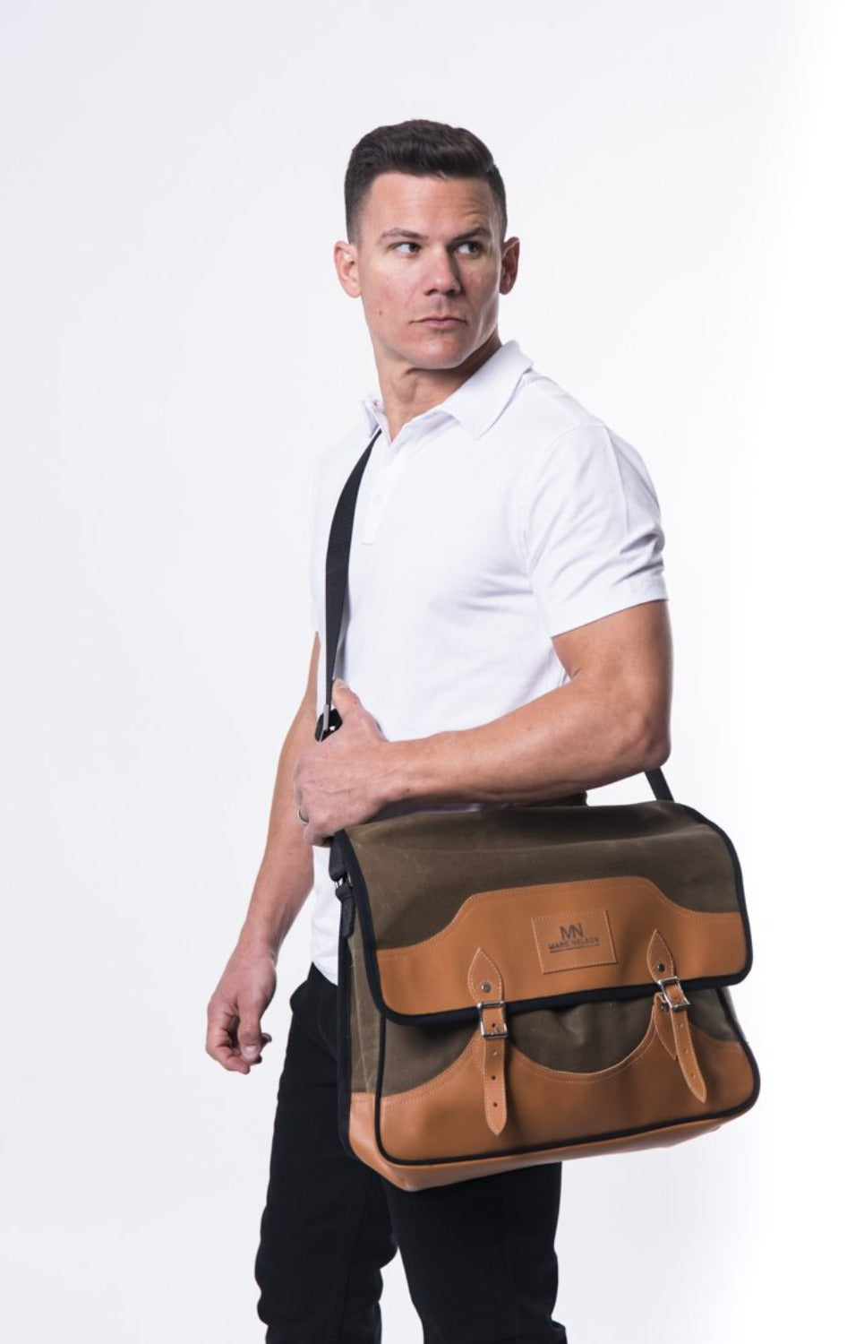 Canvas and Leather messenger bags - Marc Nelson Denim