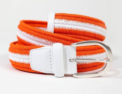 Orciano Woven Orange Belt