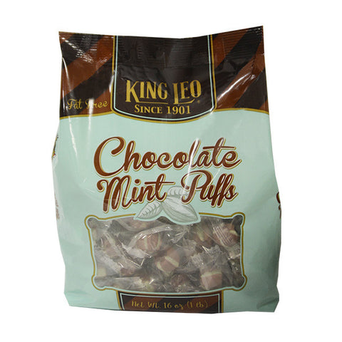 King Leo Choco Mint Puffs 16oz. Bag