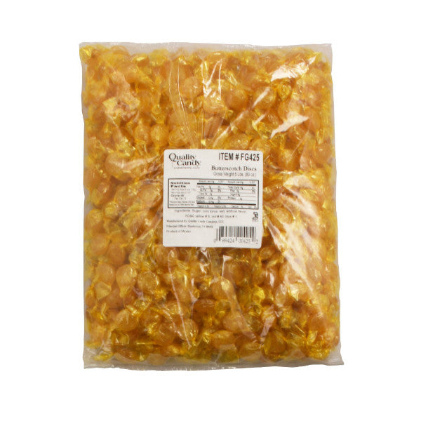 Gilliam Butterscotch Candy Disks Approx 400 Count (5lbs Bag)