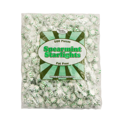 Green Spearmint Starlights Candy (5lb Bulk bag - 500 Count)
