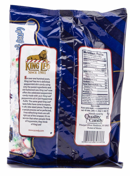 King Leo Soft Peppermint Puffs: Red, White, Green (14 oz Bag)
