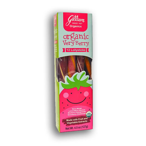 Gilliam Organics: Very Berry Lollysticks (16 - 12 Stick Boxes)