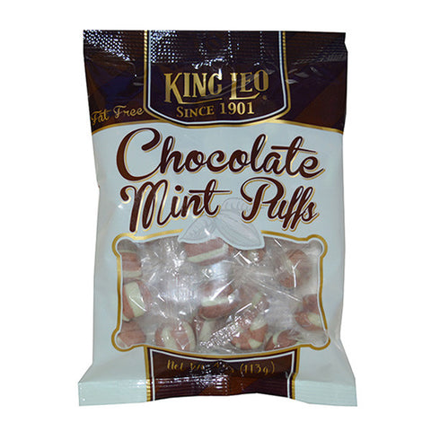 King Leo Choco Mint Puffs 4oz. Bag