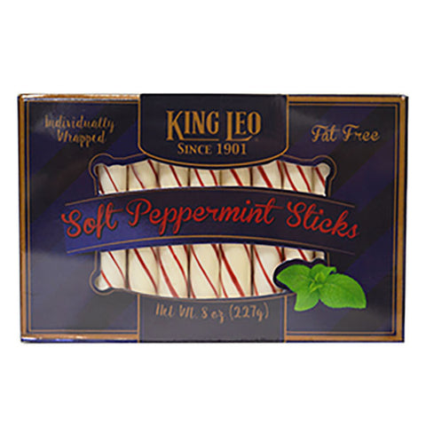 King Leo Pure Soft Peppermint Sticks - Now Individually Wrapped
