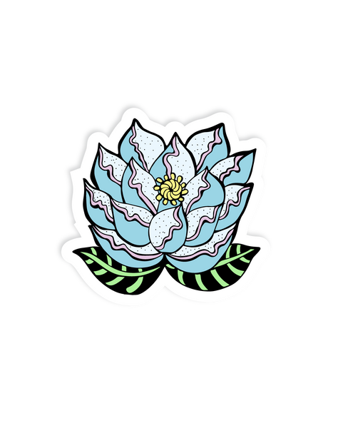 Blooming flower Vinyl sticker