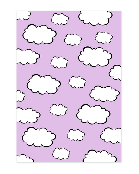Velvet cloud wrapping paper
