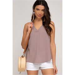 Butterfly Kisses Top In Light Mocha