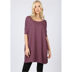 Patton Top In Eggplant