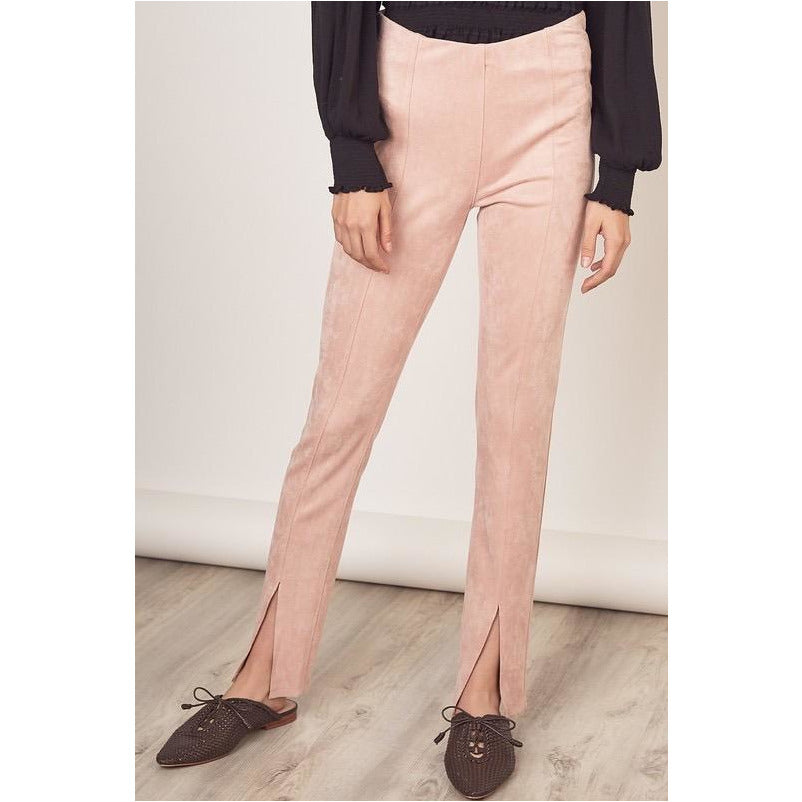 Winter Blush Suede Pants