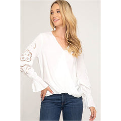 Across My Heart Top In White