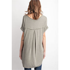 Special Promises Top In Faded Olive