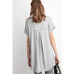 Special Promises Top In Heather Grey