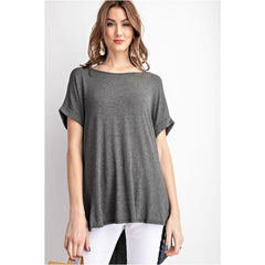 Special Promises Top In Mid Grey
