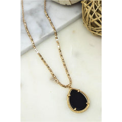 Natural Stone Gold Necklace