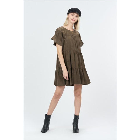 Elizabeth Suede Dress