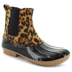 Dylan Slip On Duck Boots in Leopard