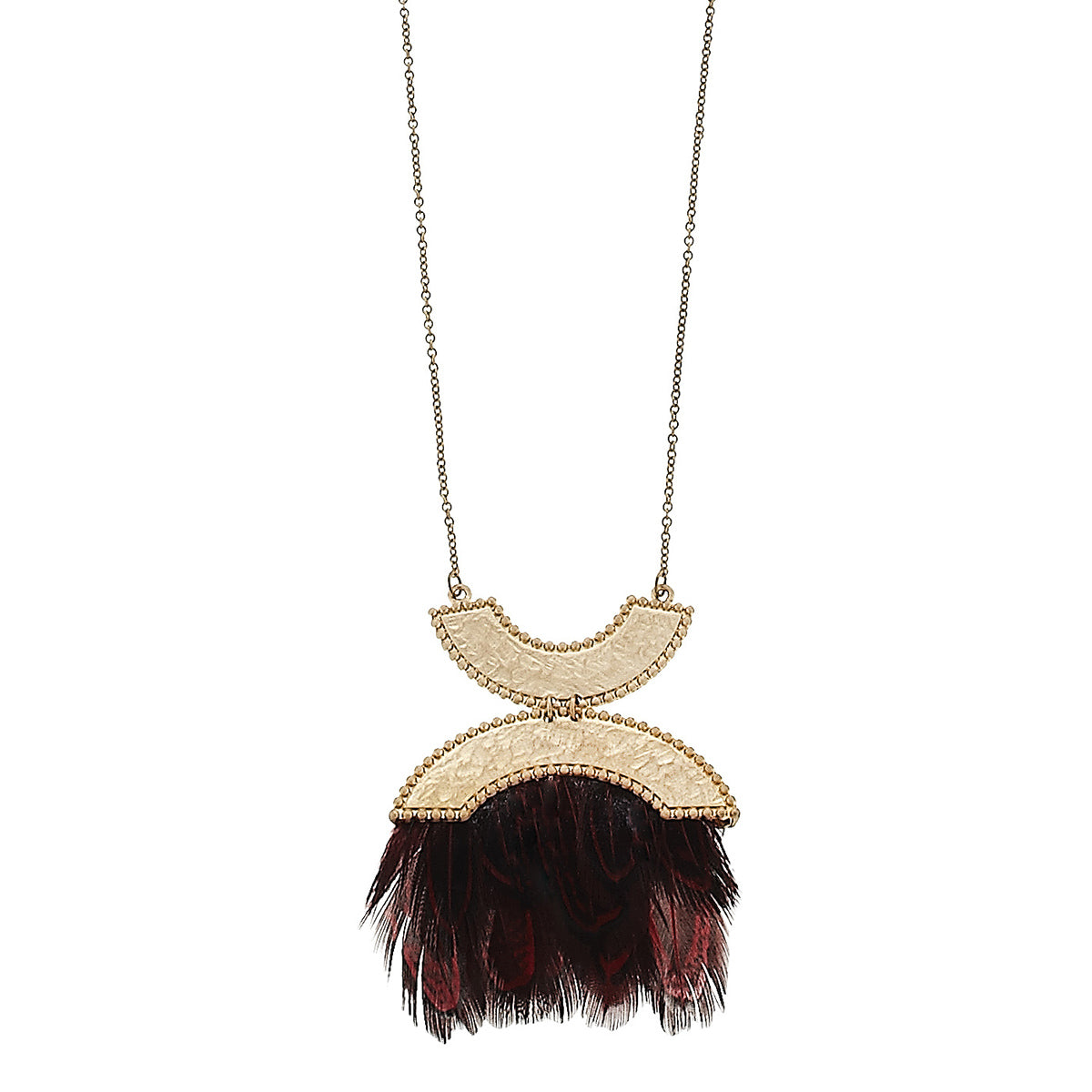 Canvas Architectural Feather Necklace