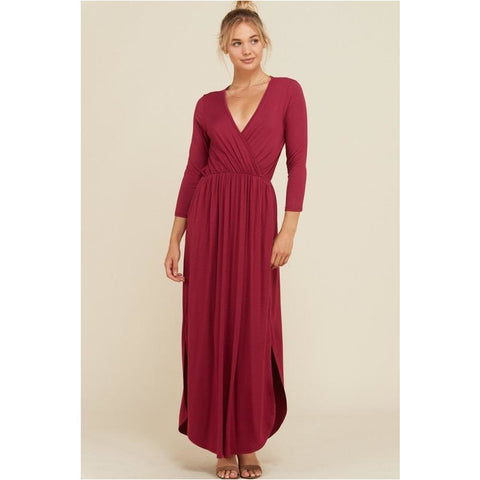 Bella Marie Maxi Dress in Rust
