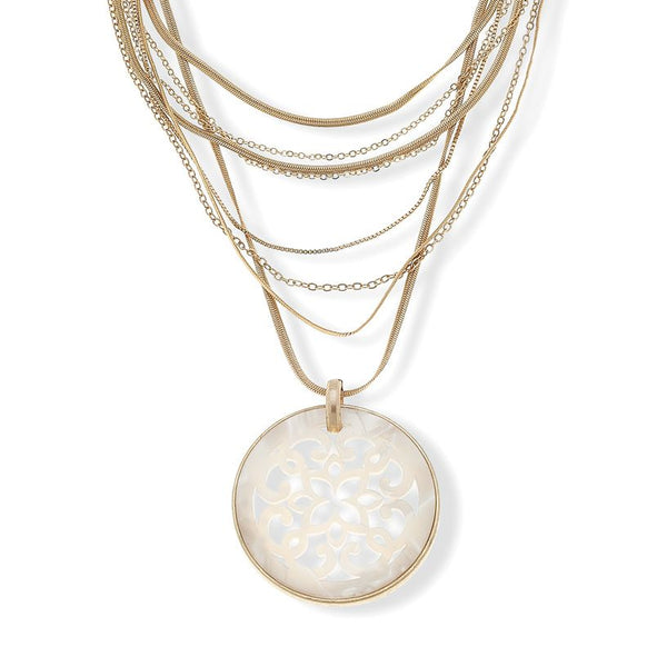 Canvas-Paloma Filigree Disc Layered Necklace