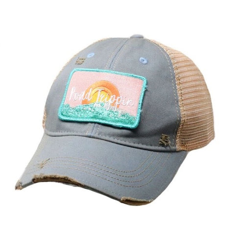 Judith March Distressed Trucker Ball Caps