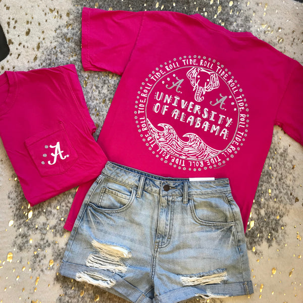Roll Tide Roll Circle T-Shirt