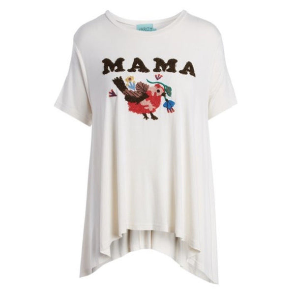 Judith March Mama Bird Appliqué Tee