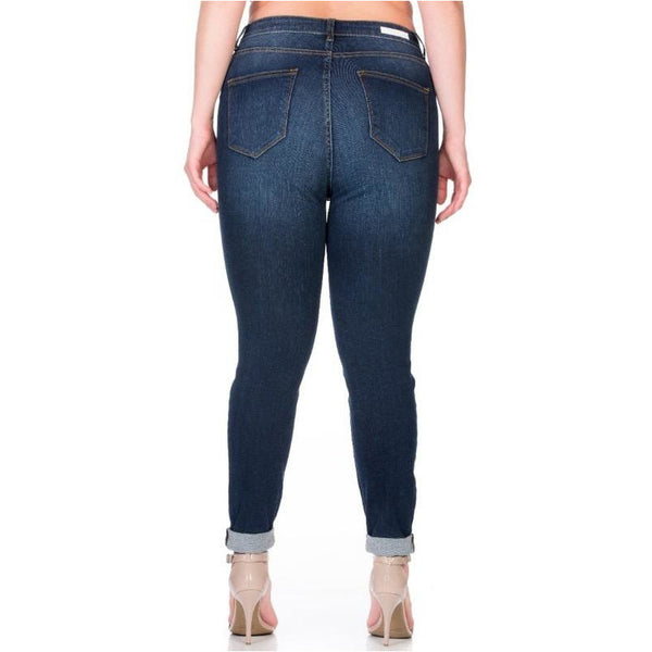 Dark Tattoo High Rise Skinny Jeans
