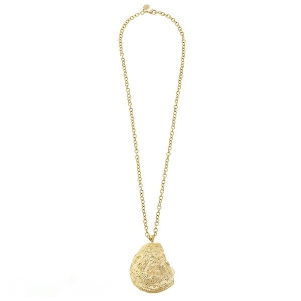 Handcast Gold Oyster Necklace