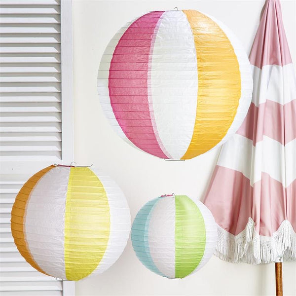 Two's Company Beach Ball Paper Lanterns