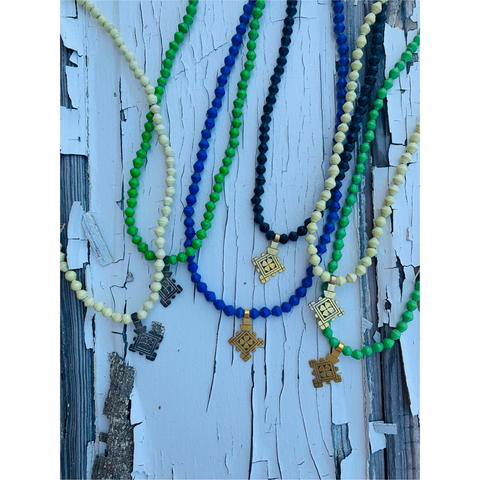 Canvas Beaded Gemstone Layering Necklace