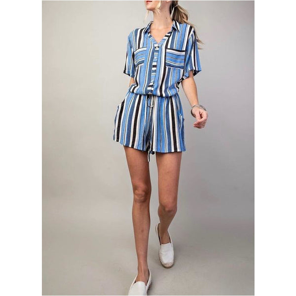 In Love Stripes Romper