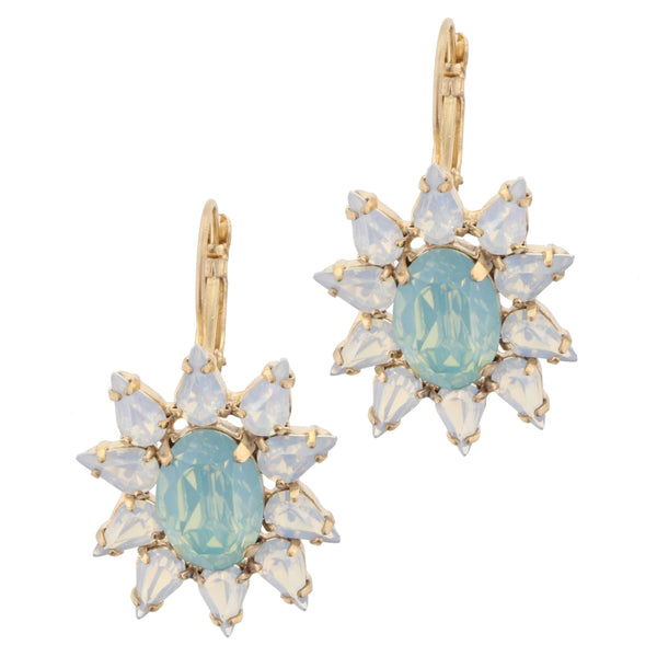Jane Marie Opal with Mint Center Stone Earrings