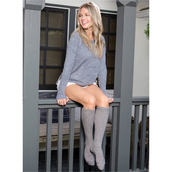 Barefoot Dreams Cozy Chic Ribbed Socks