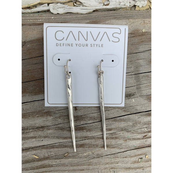 Canvas Silver Spear Earrings