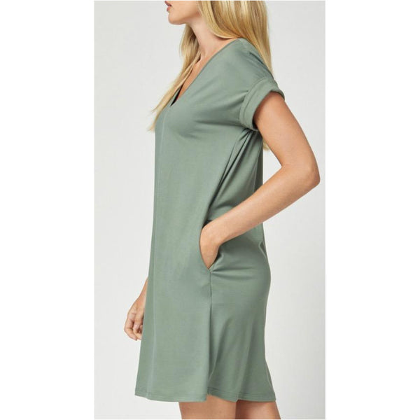 Smooth Olive Dress