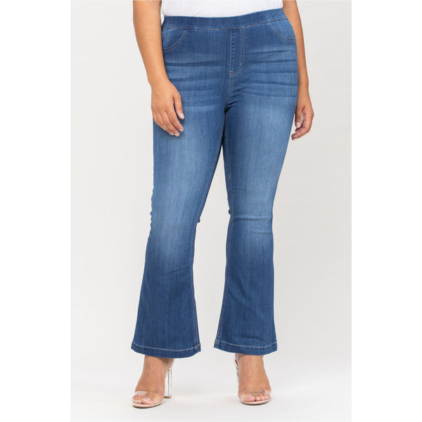 Jasper Plus Washed Flare Jeggings