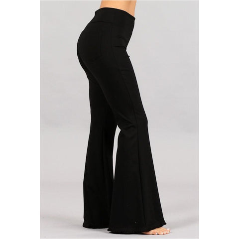 Champagne Split Pants