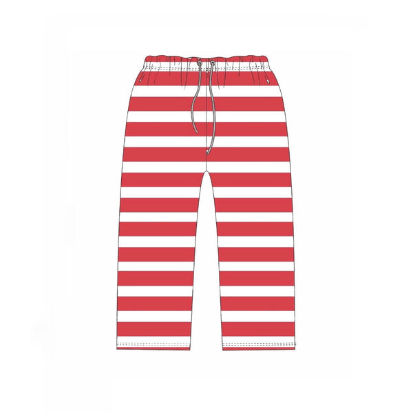 Jane Marie Red and White Striped PJ Pants