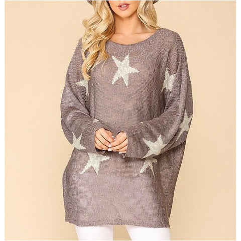 Popcorn Tunic Sweater in Ash Mint