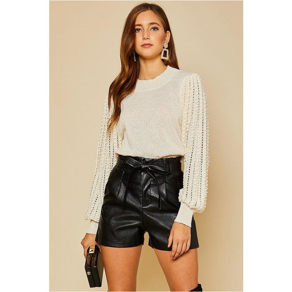 Vegan Leather Shorts