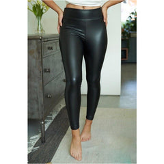 Mia Plus Leather Full Leggings