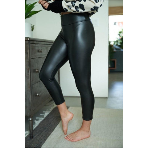 Mia Capri Leather Leggings